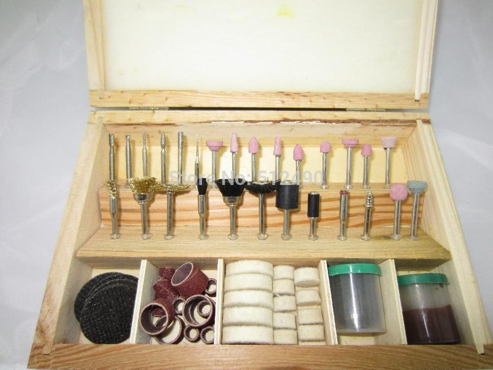 Diy Rotary herramienta de molienda pulido de joyas accesorios con de madera Set de fundas dentales herramienta rotativa y accesorios dremel Kit de herramienta