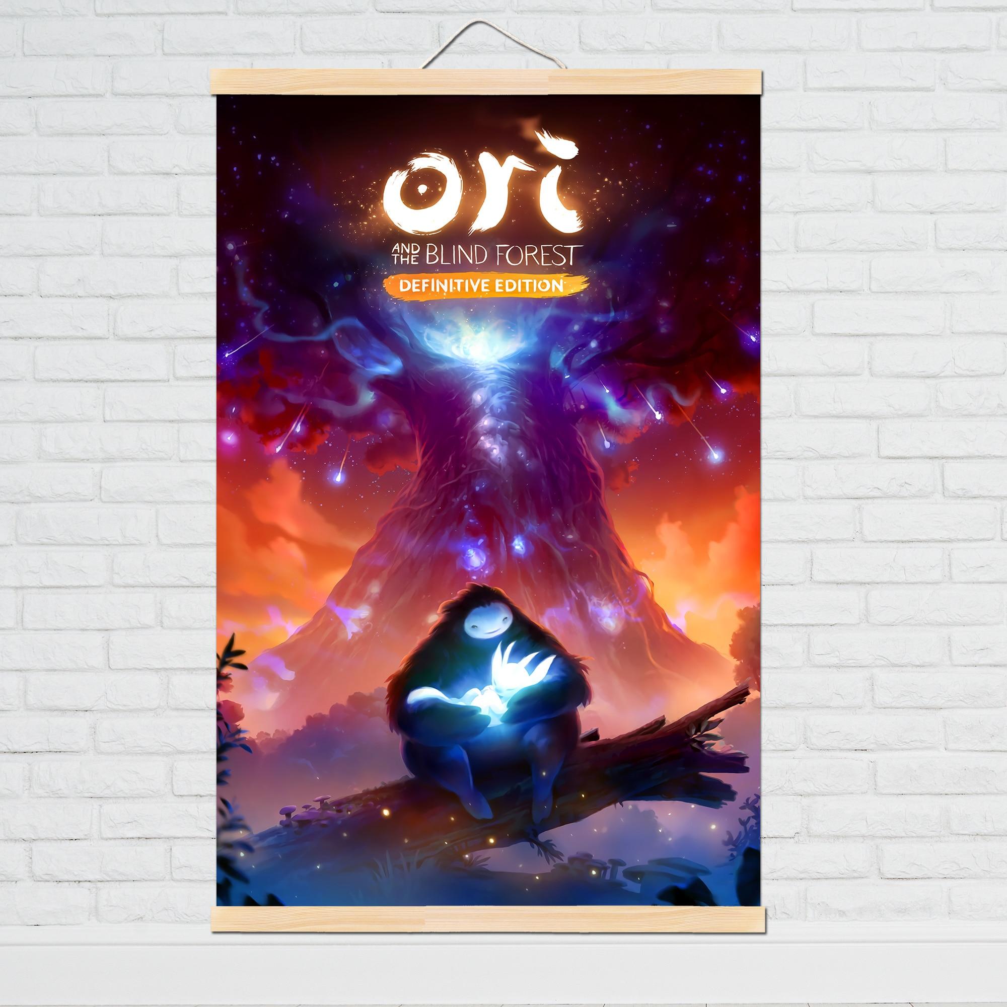 El póster decoración pintura de Ori y el bosque ciego en lienzo HD pintura lienzo arte de pared lienzo