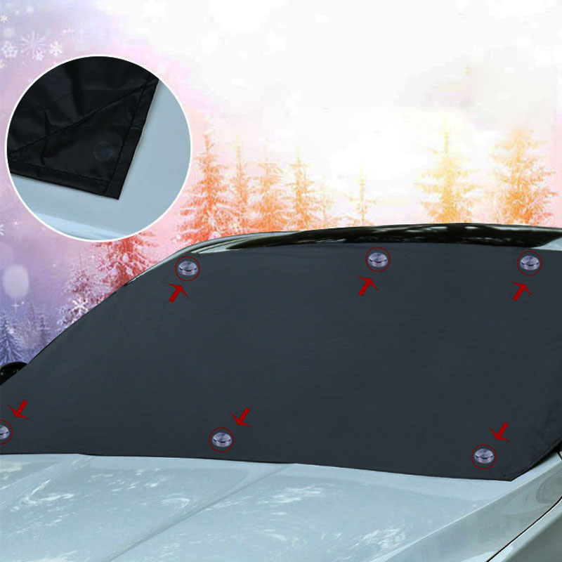 Magnetic edge car snow cover car windshield frost shield protector
