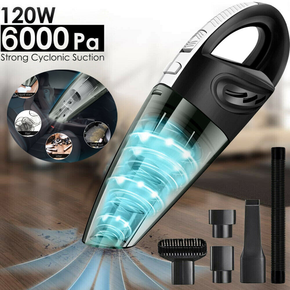 in addition to mites machine high power vacuum cleaner super sound off mini no supplies horizontal big suction 120W Handheld Car Vacuum Cleaner Wireless Wet and Dry Mini 6000pa Rechargeable Super Suction Portable for Car vacuum cleaner