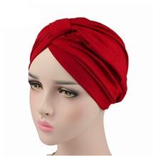 Turban en Spandex extensible pour femmes, Turban musulman, couvre-chef pour chimio, accessoires pour cheveux