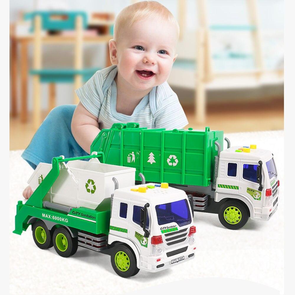 Camión de basura de juguete 116, colector de basura, Mini ash de aleación fundido a presión, juguetes de modelo de coche, juguetes para niños, 2 pedidos