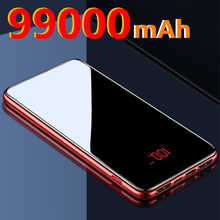 99000mAh power bank portable dual USB charger power bank for iPhone 11 Pro Xiaomi mobile phone external battery charger
