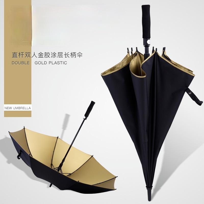 Paraguas automático de mango largo, Sombrilla de protección Uv a prueba de...