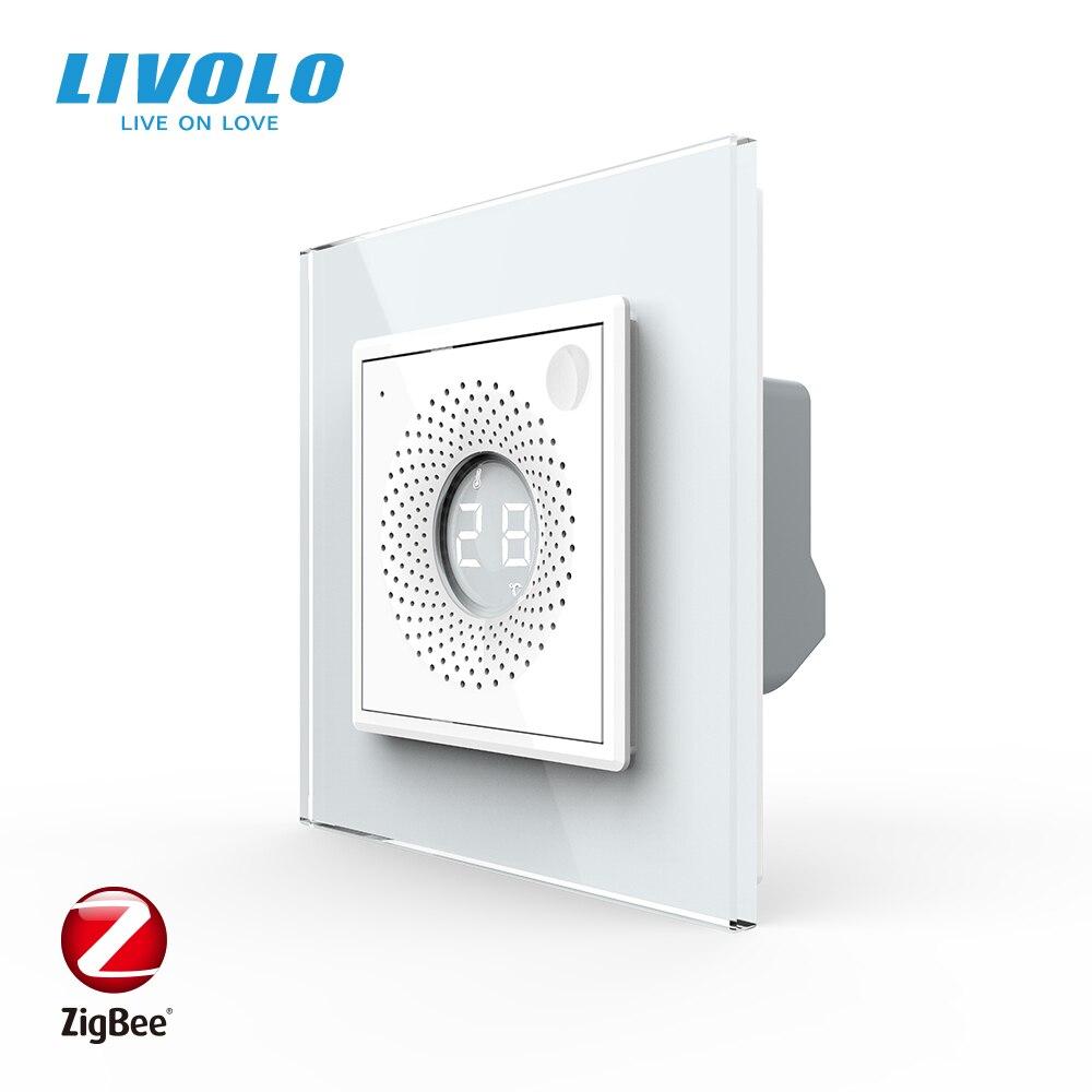 LIVOLO EU  Standard Temperature Humidity Inductio Sensor,Wifi wireless Control, Real-Ti Meonitoring Interior,Caring Butle