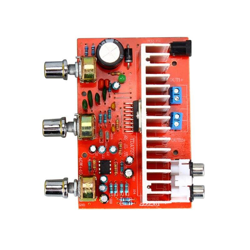 12v tda7377 o amplificador placa 40w + 40w 2.0 canais amplificador estéreo para 3-6 Polegada orador estante diy