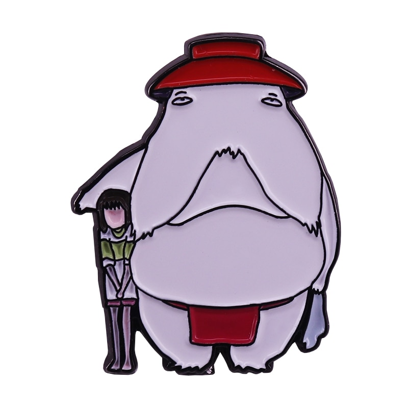 Broche de inspiración japonesa de rábano spirit Chihiro Ogino, pin Spirited Away con dibujos animados para Fans, solapa, abrigo, bufanda, suéter, chaquetas, insignia