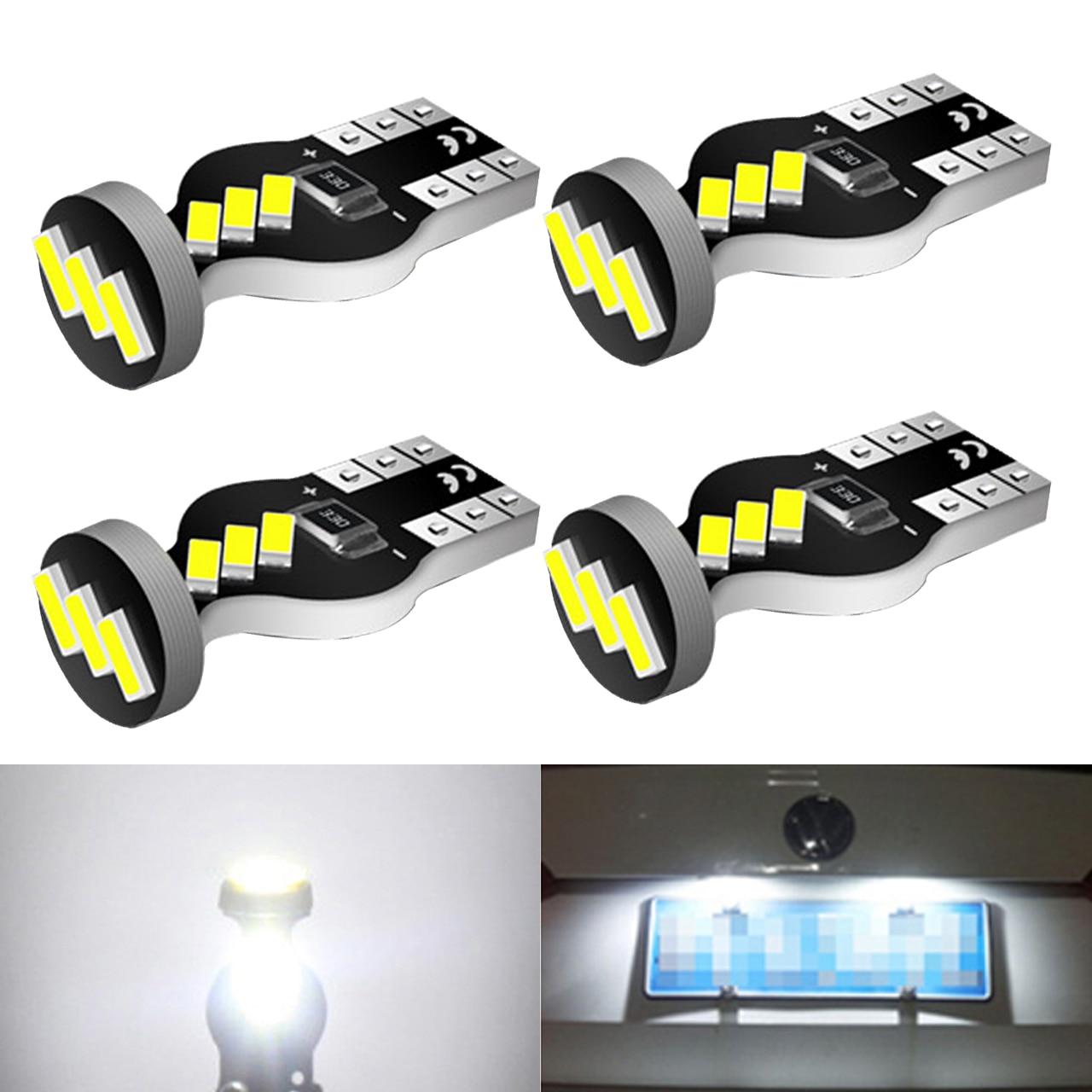 4 pces t10 led lâmpada sem erros mapa do carro cúpula tronco luz para mercedes-benz w204 c300 c350 c250 e350 e550 ml550 r320 r350 e320 e500