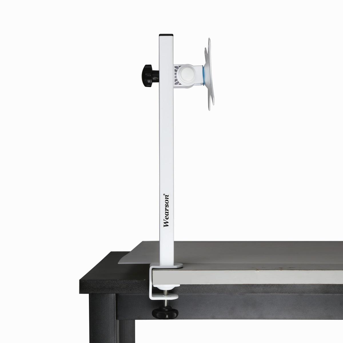 """Wearson soporte de escritorio de Monitor único c-clamp altura ajustable 205-344mm Liftable 100 ° inclinable y 360 ° giratorio para 17 """"-27 pulgadas"""