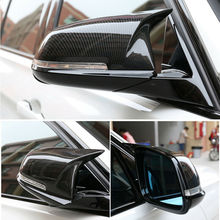 Carbon Fiber For BMW F10 F11 LCI 2014-2016 F01 F06 F07 Side Mirror Covers Cap