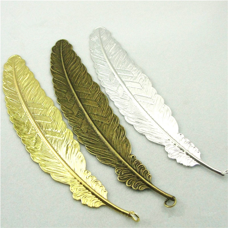 2 Big Feather Pendant 110*23MM 3 Colors Big Pendant Feather Charms for Necklace Book Mark Accessories  - buy with discount