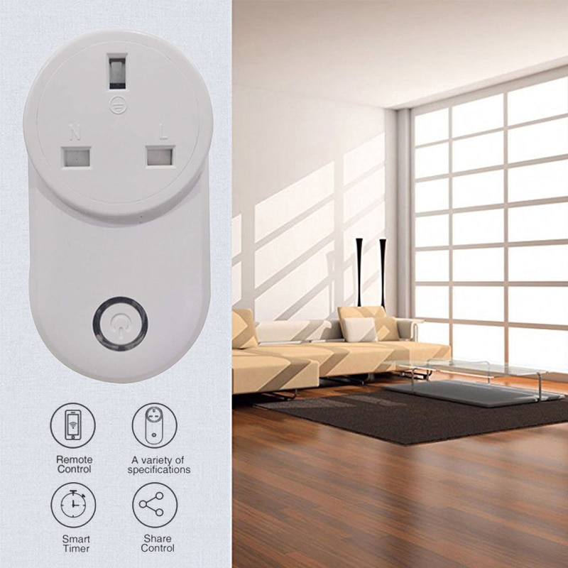 WiFi Smart Socket EWeLink APP temporizador de Control remoto interruptor AC 90-265V 10A enchufe inteligente inalámbrico funciona con Alexa Google Home IFTTT