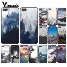 Yinuoda Mountain Peak Forest Snow mountain White smoke Phone Case for Huawei Honor8A 8X 9 10 20 Lite 7A 5A 7C 10i 9X Pro 8C Play