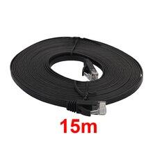 Flache RJ45 Kabel 0,5 m -15m 98FT Kabel CAT6 Flach UTP Ethernet Netzwerk Kabel RJ45 Patch LAN Kabel schwarz/Weiß Farbe