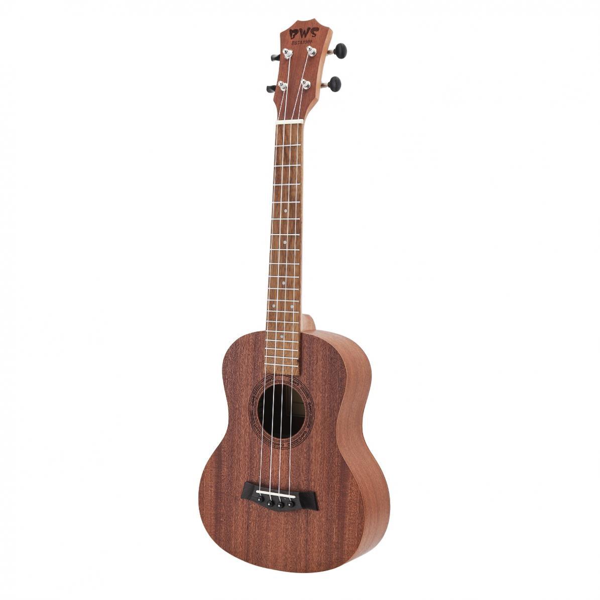 Mahogany Wood 26 Inch 18 Fret Tenor Ukulele Acoustic Cutaway Guitar Mahogany Wood Ukelele Hawaii 4 String Guitar enlarge