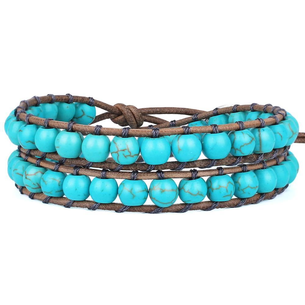 KELITCH 2 Wrap Armbänder Kristall Perlen Strang Armbänder Top Frauen Armband Armreifen Sommer Leder Armbänder