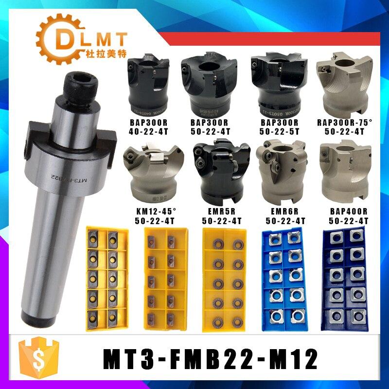 MT3 FMB22 M12 mango BAP400R 300R EMR5R 6R KM12 50 22 cara fresadora CNC cortador + 10 Uds APMT1604 1135 RPMT insertos para herramienta eléctrica