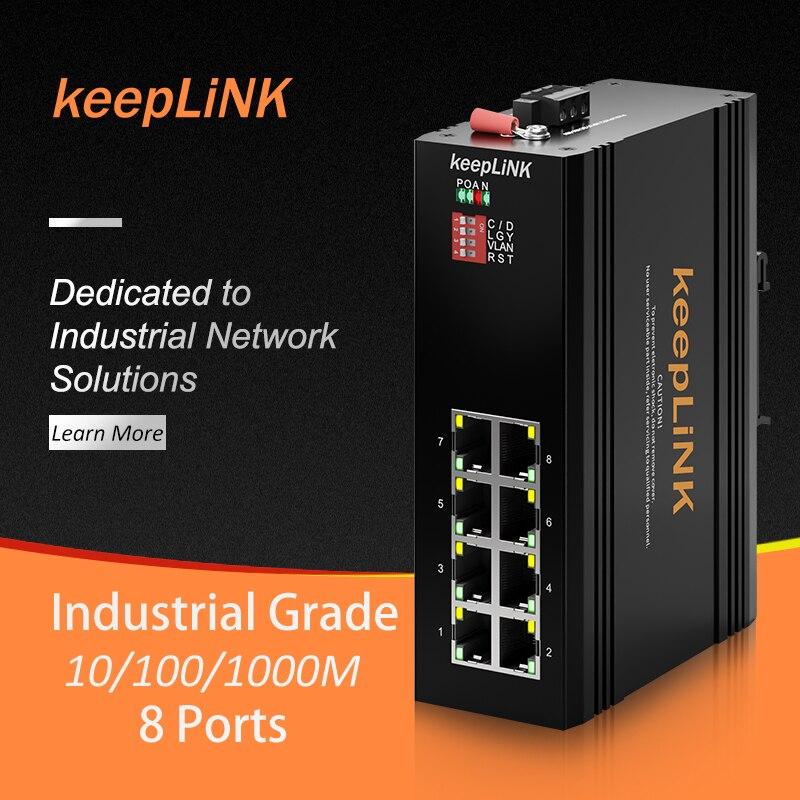 commutatore-di-rete-veloce-industriale-di-ethernet-di-8-porte-per-ip40-non-gestito-all'aperto-dell'armadio-elettrico-di-automazione-industriale