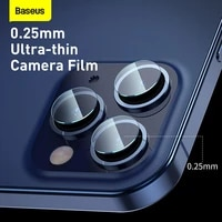 baseus 0 25mm lens film for iphone 12 series 2pcs pack mobile phone camera film for iphone 5 46 16 1 pro6 7inch new 2020
