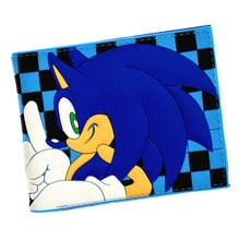 Sonic Wallet Men's Short Purse Cool Design Wallets With Coin Pocket