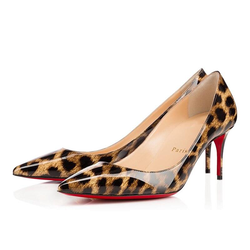Luxury Pumps Sexy Platform Clear Women leather High Heels 8 10 12cm Ladies Mules Red Bottom Wedding