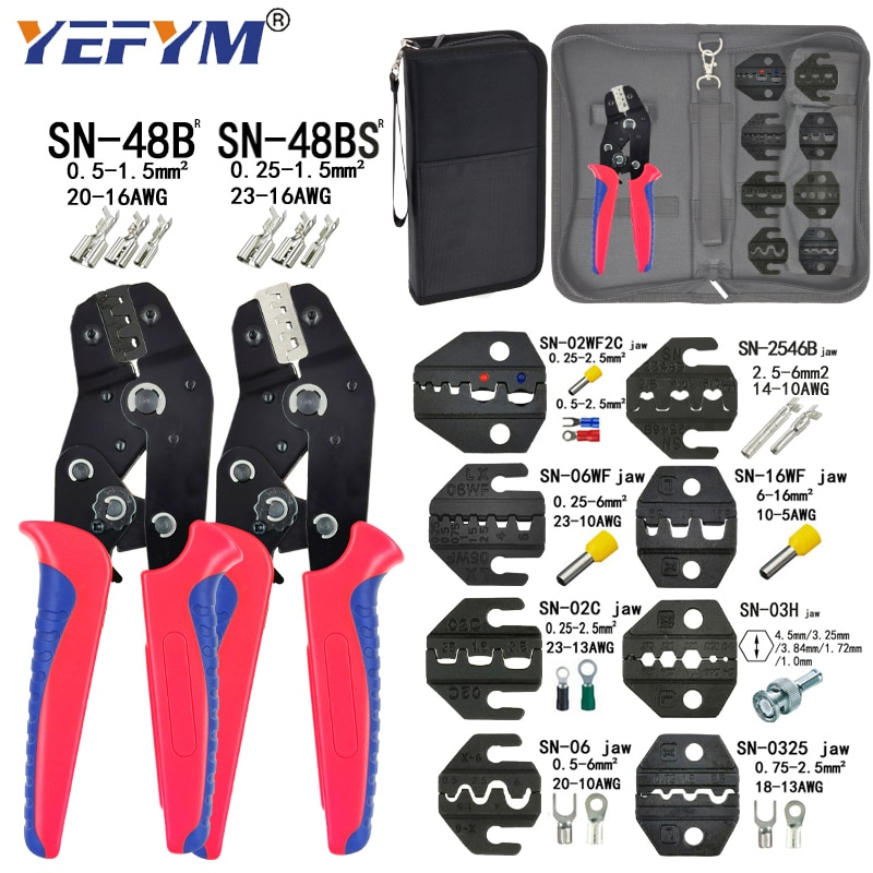 Crimping Pliers Set SN-48BS(=SN-48B+SN-28B) Jaw Kit for 2.8 4.8 6.3 VH3.96/Tube/Insulation Terminals