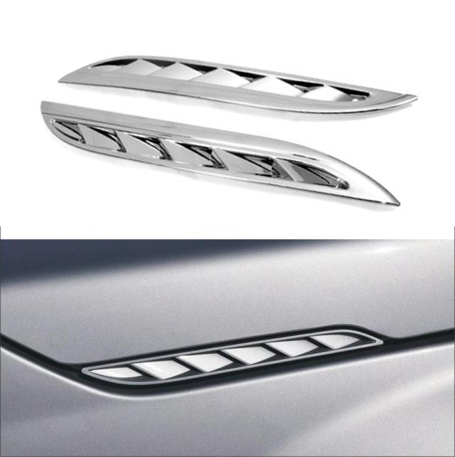 Para Suzuki Grand Vitara 2005-2012, capó lateral cromado ABS, cubierta embellecedora de rejilla de ventilación lateral de admisión de aire, 2006 2007 2008 2009 2010 2011
