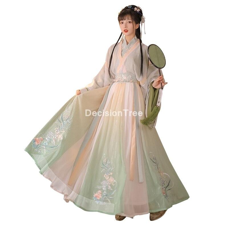 زي الأميرة الصينية القديمة  2021 ، فستان hanfu التنكري الخيالي للنساء ، بدلة تانغ عتيقة ، زي الأميرة النبيلة ، فستان الرقص الشعبي