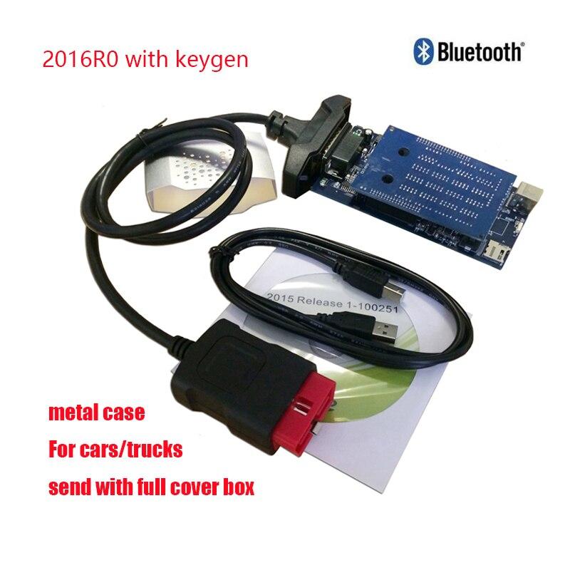 Nuevo Vci para Delphis vd ds150e cdp 2019 VD Tcs Cdp Pro Obd2 escáner Bluetooth 2016 R0 Keygen herramienta de diagnóstico del coche + 8 Uds Cable del coche