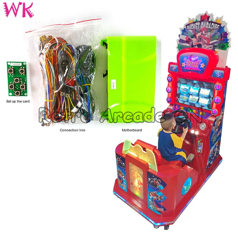 Child HD Tour Racing Car Amusement Machine Coin Operated Simulator Driving Game Board With Wire Can Connect Brake Potentiometer