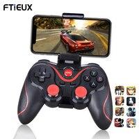 Беспроводной Bluetooth-геймпад T3 X3 для IOS Android мобильный телефон, джойстик, контроллер, игровая ручка для планшетов, ТВ-приставок, держатель