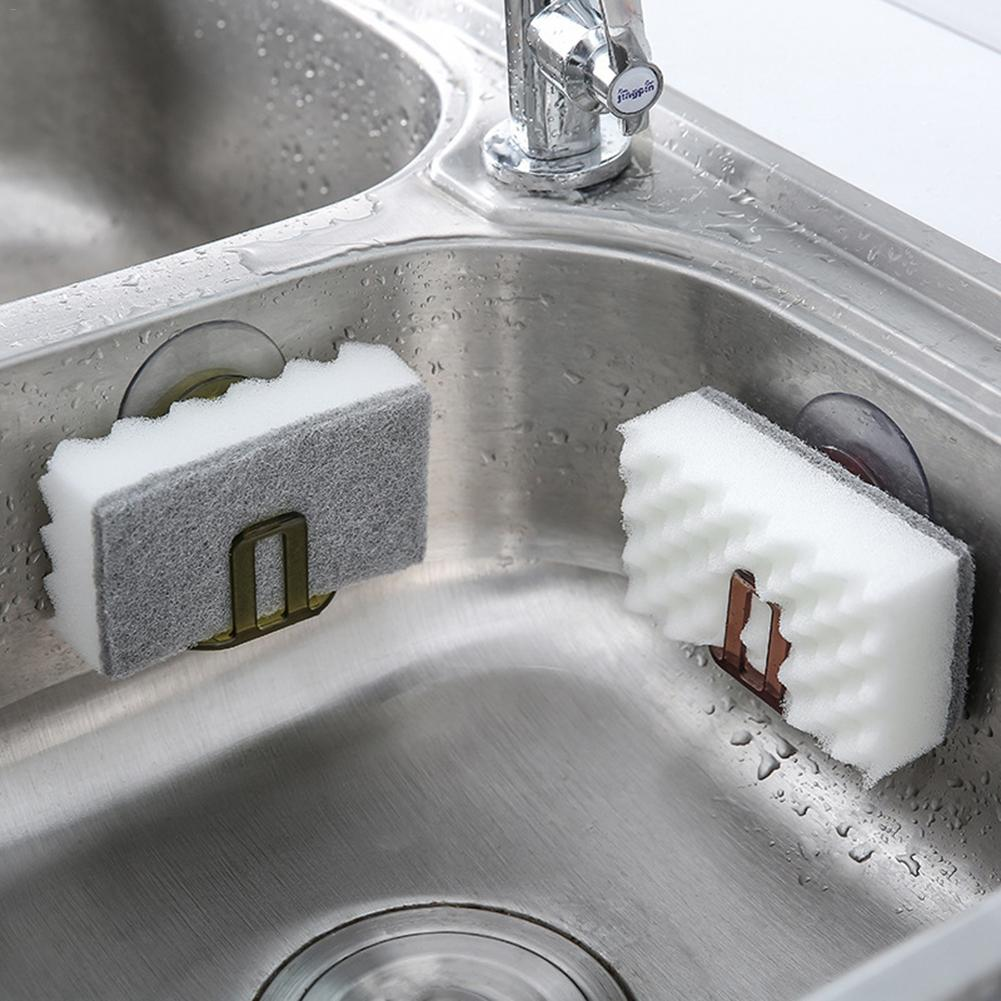 Virtuvės organizatoriaus kriauklės įsiurbimo puodelis, kempinės - Organizavimas ir saugojimas namuose - Nuotrauka 2