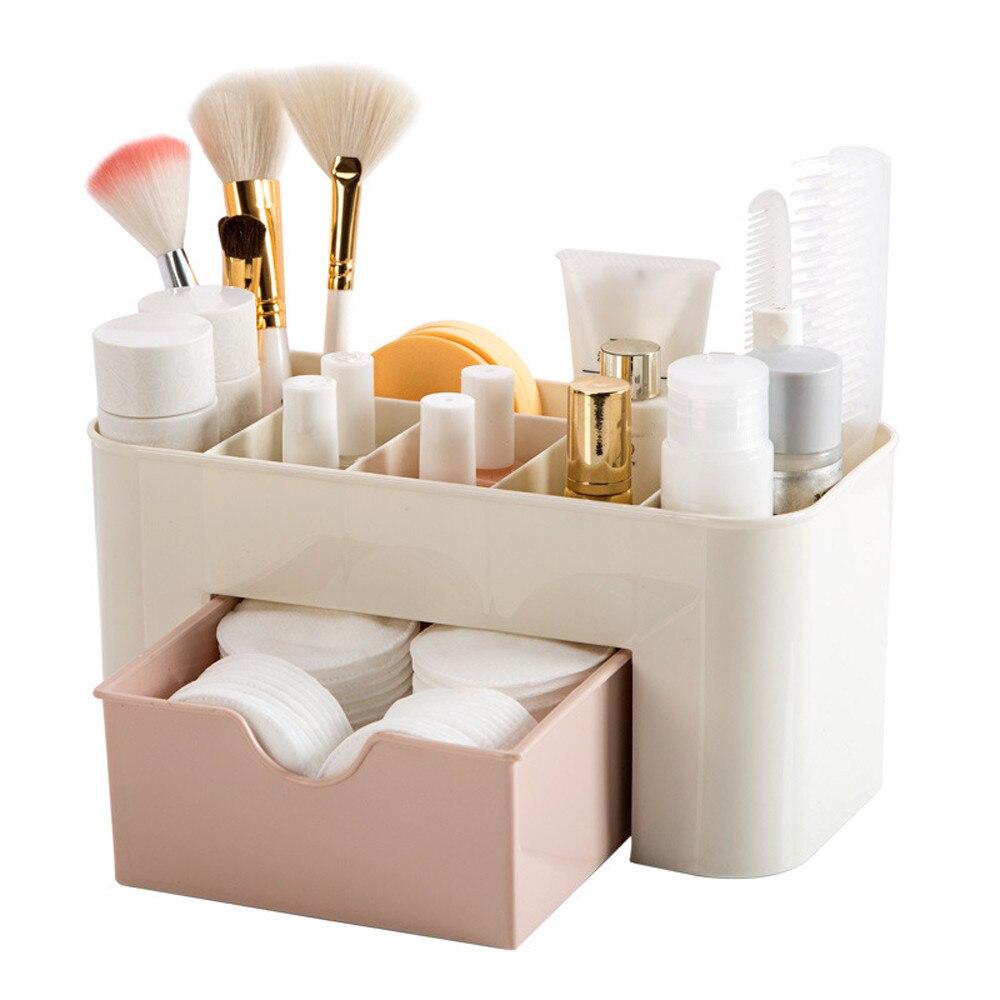 sobuy fsr30 w storage bench 3 drawers Plastic Cosmetic Storage Box Drawer Organizer Drawer Divider Makeup Jewelry Organizer Rangement Cuisine Home Storage Drawers#w