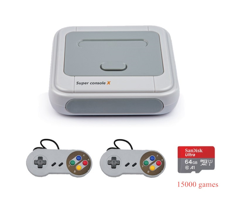 SUPER CONSOLE X 2.4G Wireless Game Console 4K Retro Game Player Classic PS1 N64 30000 Games Support AV HD Wifi TV Console Box enlarge