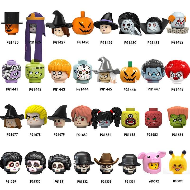 MG0092 MG0093 PG1682 PG1684 PG1432 PG1431 фигурка головы MOC строительные блоки кирпичи обучающие игрушки для детей Подарки