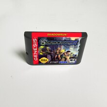 Shadowrun (Batterij Besparen)-16 Bit Md Game Card Voor Sega Megadrive Genesis Video Game Console Cartridge