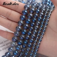 6810mm transparent blue crystal beads round natural stone beads for jewelry making diy bracelet accessories 15 beadtales