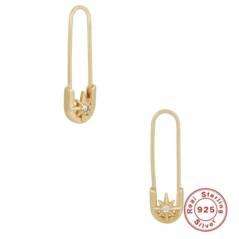 VINY Silver 925 Jewelry Earrings For Women Pin Hoop Earring Gold/Silver Jewelry 2021 Trend Bijoux Femme Fine Gift Серьги