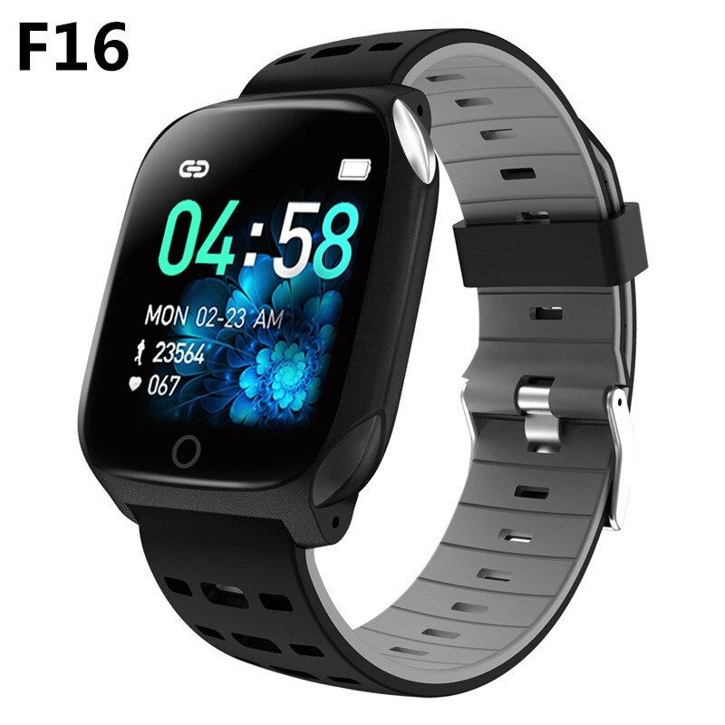 F16 pulseira esportiva inteligente para atividades físicas, pulseira smart com monitor de frequência cardíaca, ppg, ecg