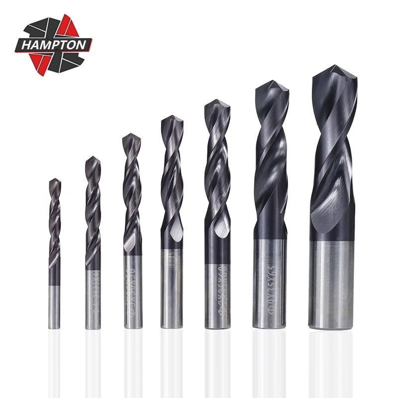 Tungsten Carbide Drill Bit 1.0-12mm VAPO Coated Twist Drill Bits For CNC Lathe Machine Gun Drill Bit