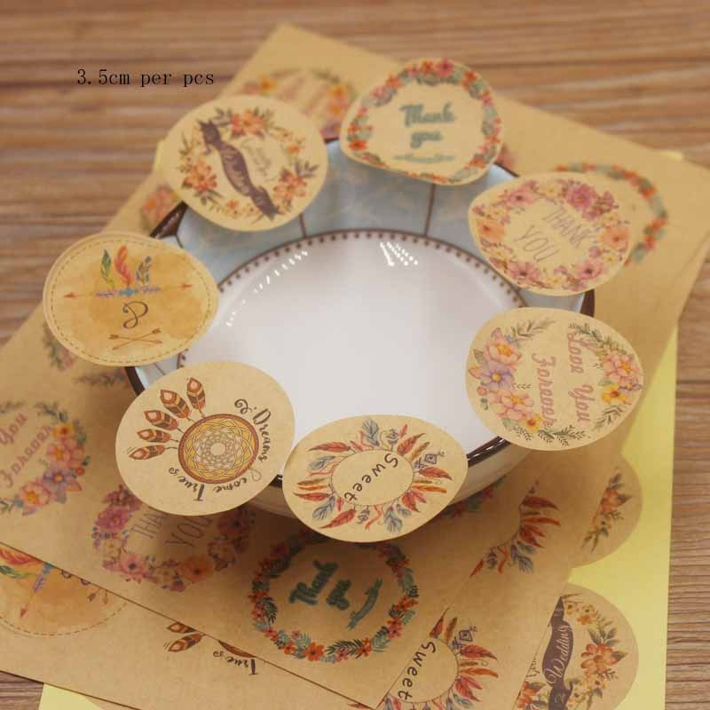 3,5x3,5 cm Etiqueta de papel blanco/marrón color love u forever same wishes for wedding candy/regalos hermoso estilo de moda 2019