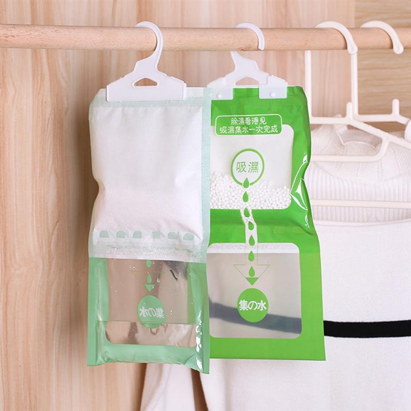 Armario colgante bolsa para humedad Vitrina armario ropero deshumidificador bolsa agente de secado higroscópico Anti-Molde desecante bolsa