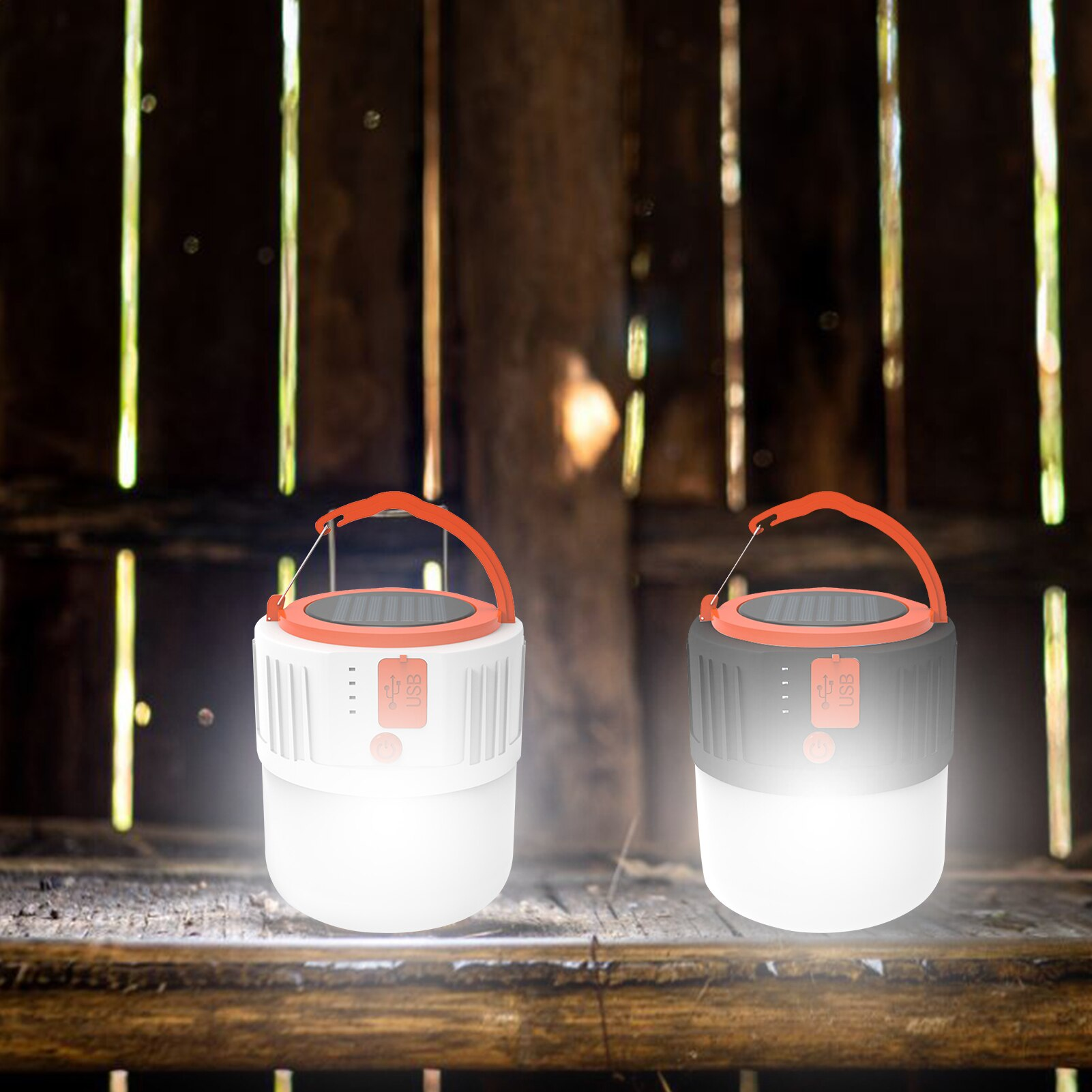 Multifunctional outdoor emergency light, 24 LED bulbs, built-in 2400mAh rechargeable battery, flashlight with 5 modes