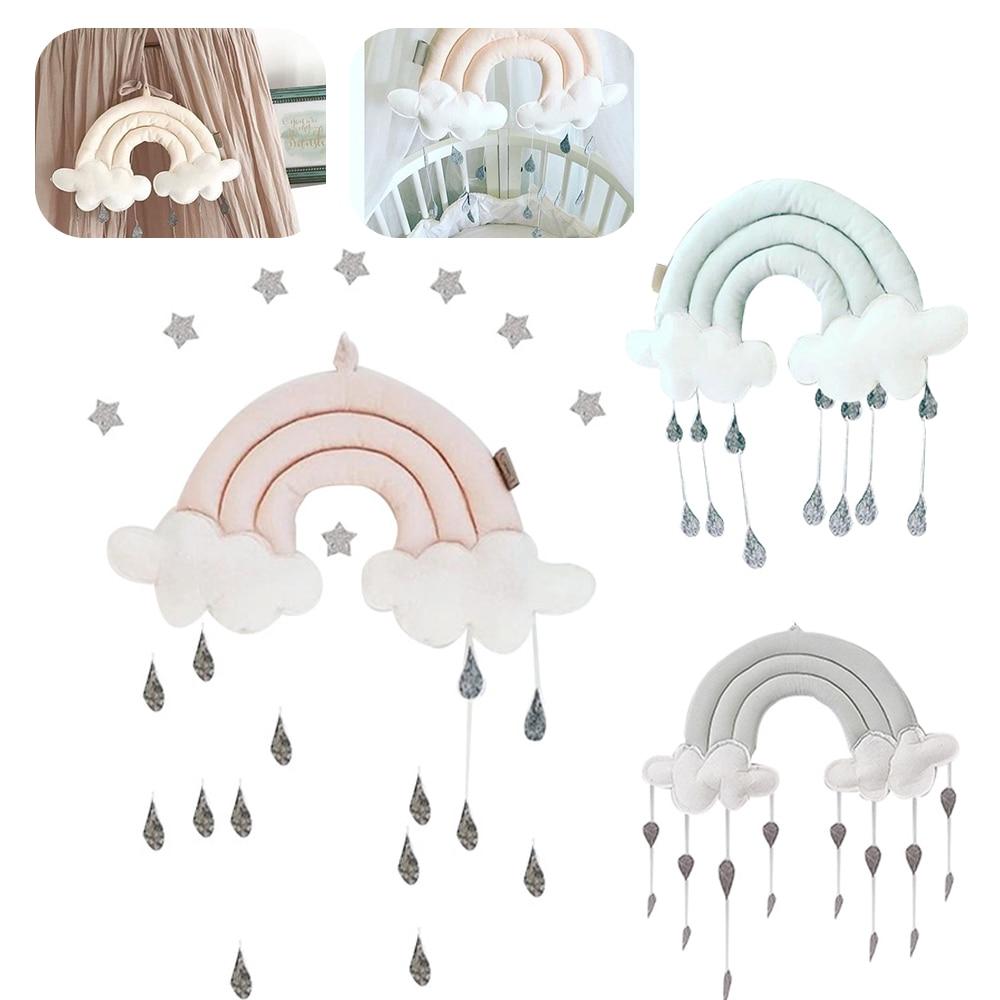 Recién Nacido nube gota de lluvia juguetes de pared cama tienda colgante juguete colgante de cuna Decoración habitación accesorios para fotografía para niños