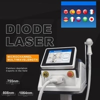 permanent 1064nm 755nm 808nm diode laser hair removal machine flawless painless ice cool laser epilator with 80 million shots