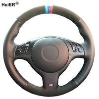 Hand Sewing Car Steering Wheel Cover Suede Leather For BMW M Sport E46 330i 330Ci E39 540i 525i 530i M3 E46 Car Accessories
