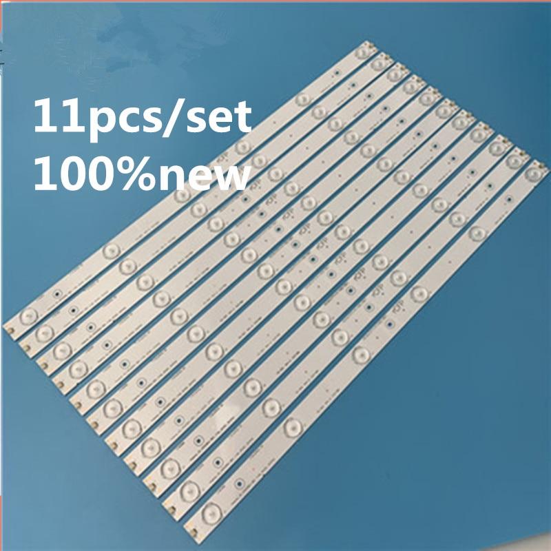 Nuevo Kit 11 unids/set 6LEDs 503mm tira de luz de fondo LED para 50 pulgadas TV rsak7.820.6311/ROH LED50EC620CA HD500DU-B01