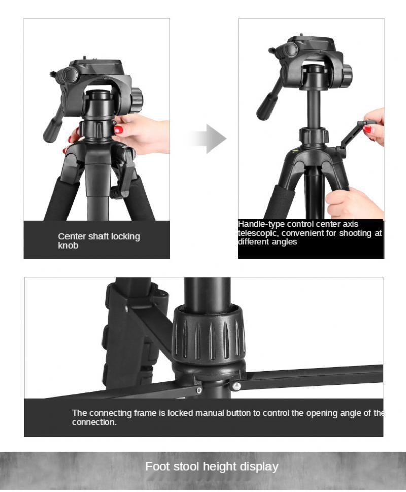 Tripod Slr Micro-Single Camera Photo Frame Portable Tripod Mobile Phone Live Support enlarge
