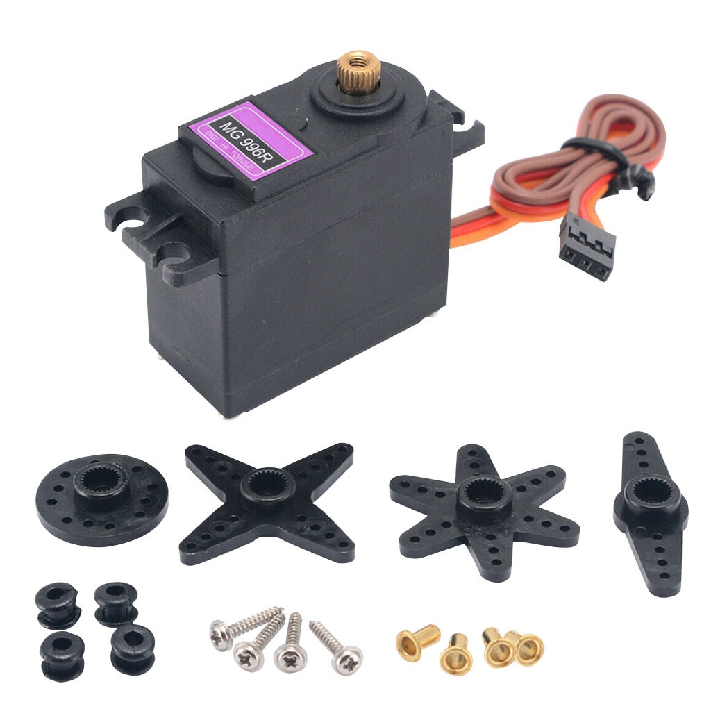 2021 New Mg996r Set Gear Servo Motor Big Torque For Rc Helicopter Car Robot Accessories Toys Christm