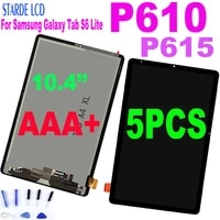 5pcs 10 4 lcd for samsung galaxy tab s6 lite p610 p615 lcd display touch screen digitizer assembly for p610 lcd replacement